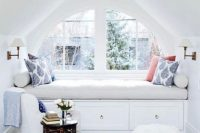 15 stylish white attic reading nook
