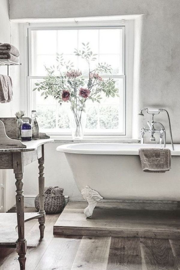 26 Adorable Shabby Chic Bathroom Dcor Ideas Shelterness