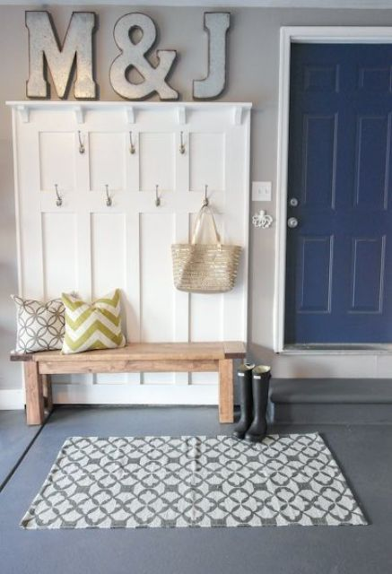 open rack for mudroom storage