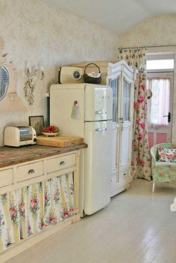 Floral Striped Shabby Chic Kitchen Chair Covers Patterns Decor