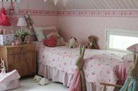 17 pink vintage attic bedroom for a girl