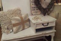 17 shabby chic whitewashed telephone table