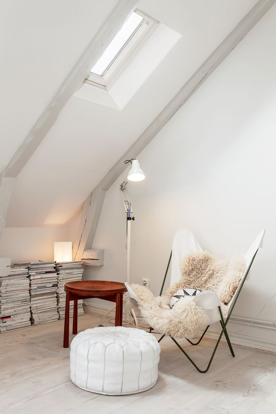 stylish modern reading attic nook