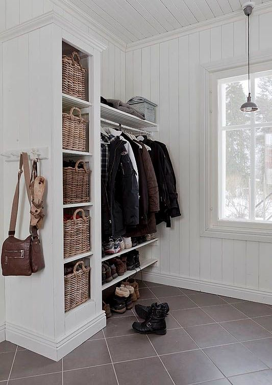 picture of open shelving could work in the mudroom