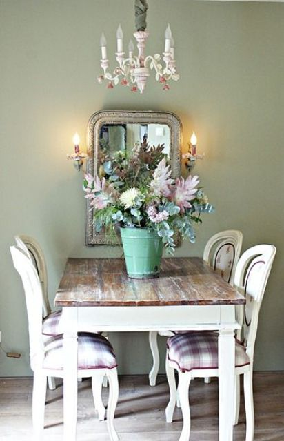 rustic reclaimed dining table works well for a shabby interior