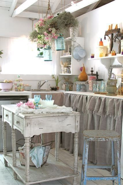 Shabby Chic Kitchen Design With Rustic Details