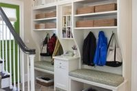 19 open shelving with cabinets above