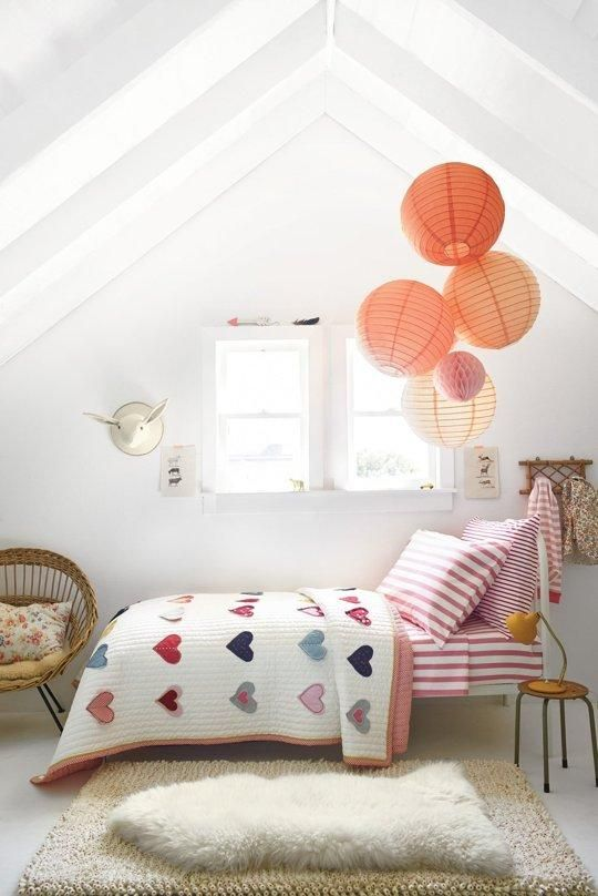 Simple sweet attic kids u room for a girl