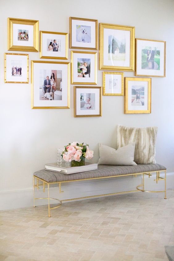 gilded frames of the same style