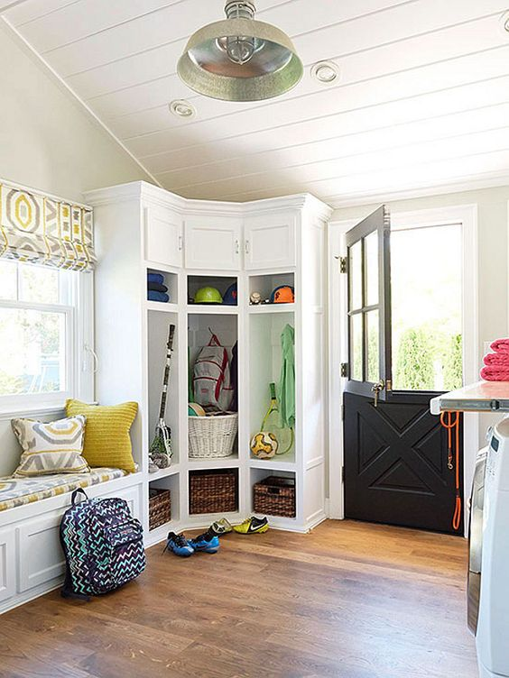 modern laundry and mudroom combined