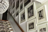 20 white frames in different sizes but same style