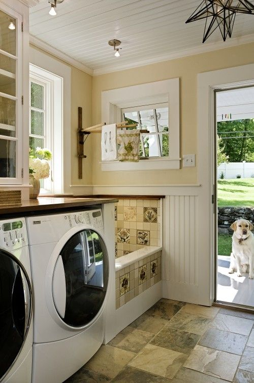 mudroom laundry with a pet wash station - Wash Room Designs