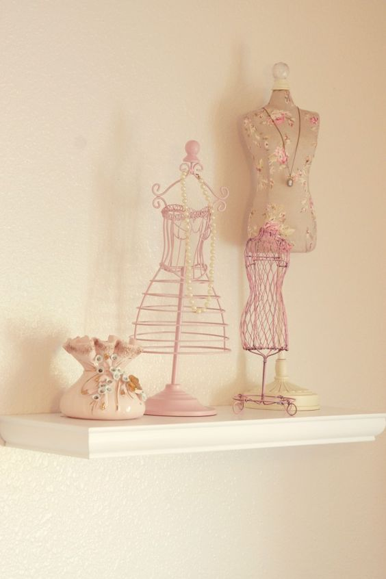 pink accessories stands for nursery decor