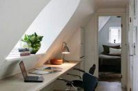 22 little home office nook in the attic