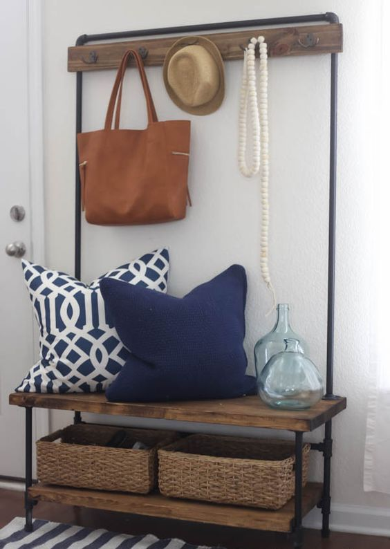 pipe mudroom bench