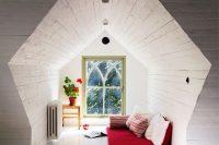 24 cozy and tiny attic bedroom