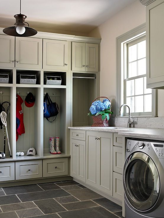 rustic mudroom laundry