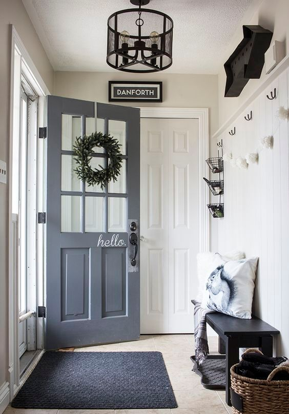 well-light small mudroom look bigger than it is