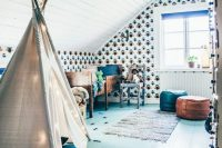 25 boho boys' room in the shades of blue