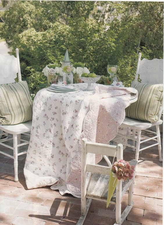 floral and striped textiles for a soft look