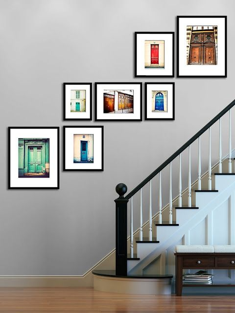 Bold door shots in simple black frames create a wonderful contrast.