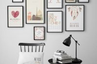 25 modern gallery art wall with black frames