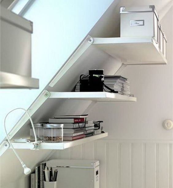 Attic Space Ideas Part - 42: Shelves Ideal For An Attic Space