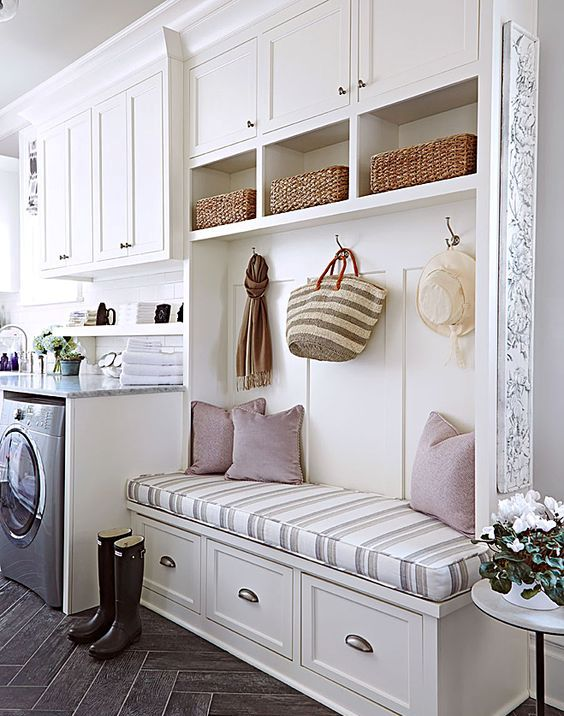 small mudroom laundry