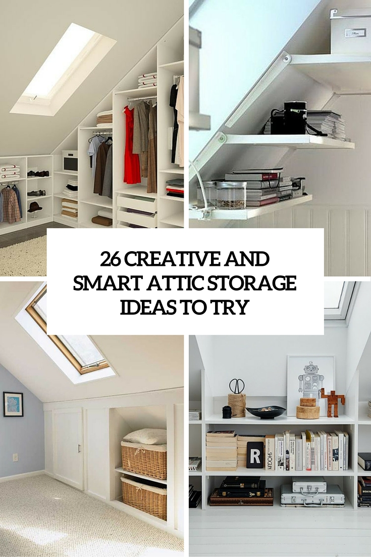 unfinished attic storage ideas - 26 Creative And Smart Attic Storage Ideas To Try Shelterness
