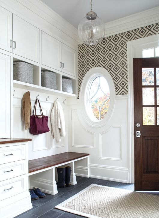 mudroom cabinets and a storage bench
