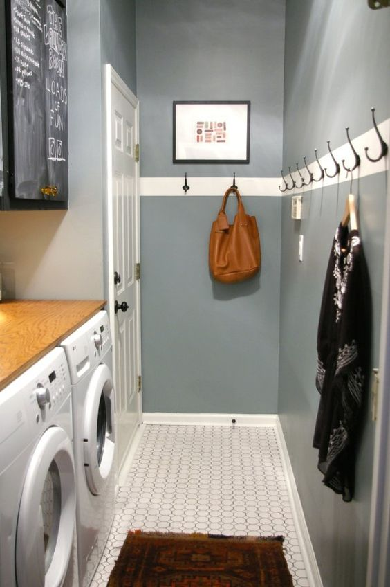 28 Clever Mudroom Laundry Combo Ideas  Shelterness # Wasbak Eiland_075314