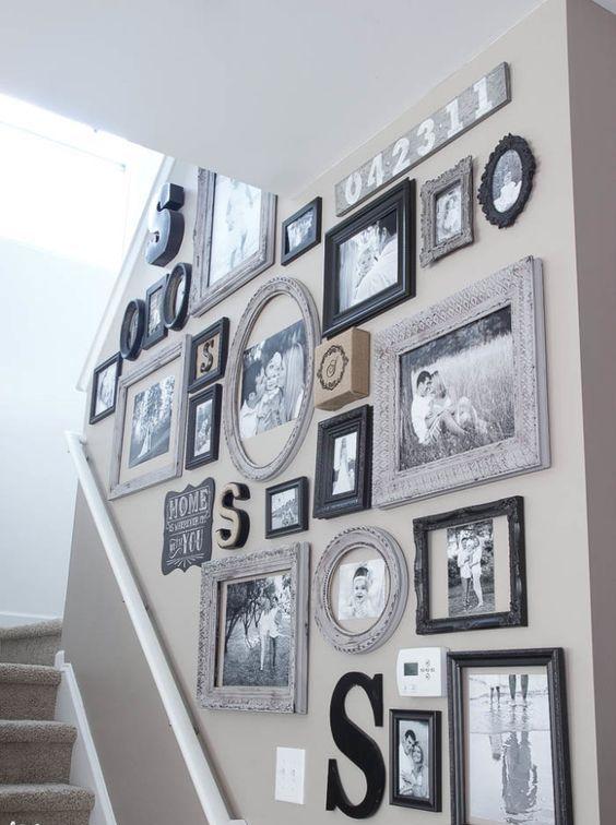 mismatched vintage frames