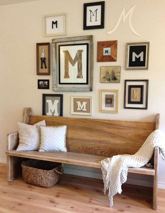 vintage-inspired wooden bench