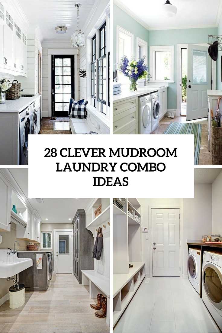 28 clever mudroom laundry combo ideas cover