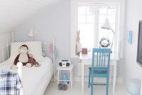 29 Scandinavian boy's room in the attic