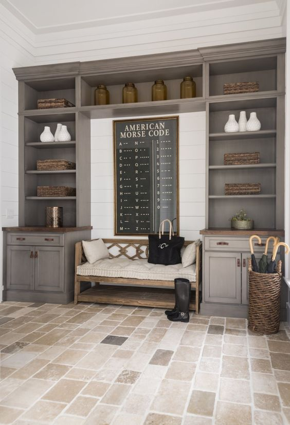 32 small mudroom and entryway storage ideas shelterness for Open laundry room ideas