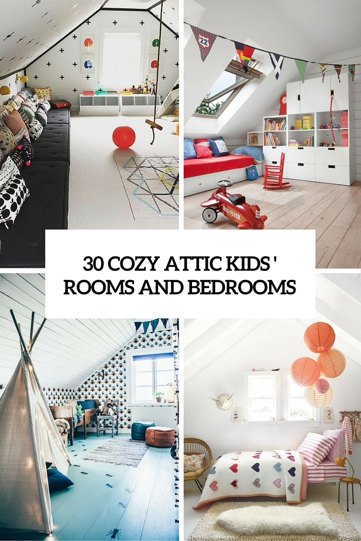 Tiny Home Designs: 30 Cozy Attic Kids Rooms And Bedrooms