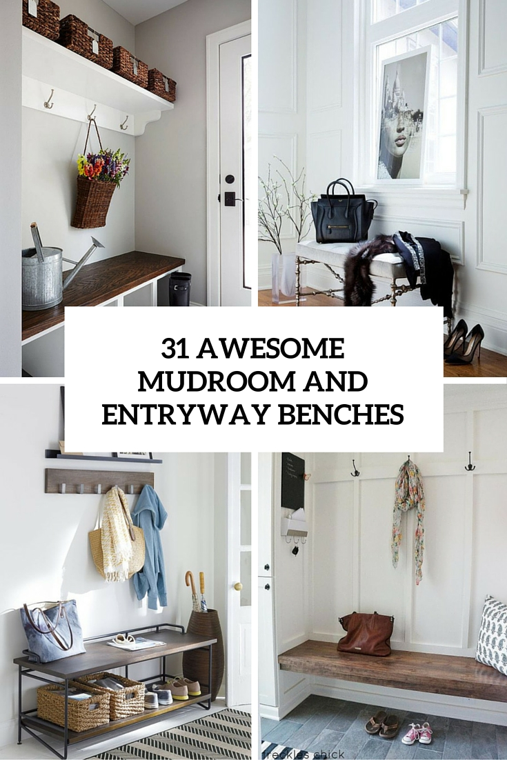Sensational 31 Awesome Mudroom And Entryway Benches Shelterness Inzonedesignstudio Interior Chair Design Inzonedesignstudiocom