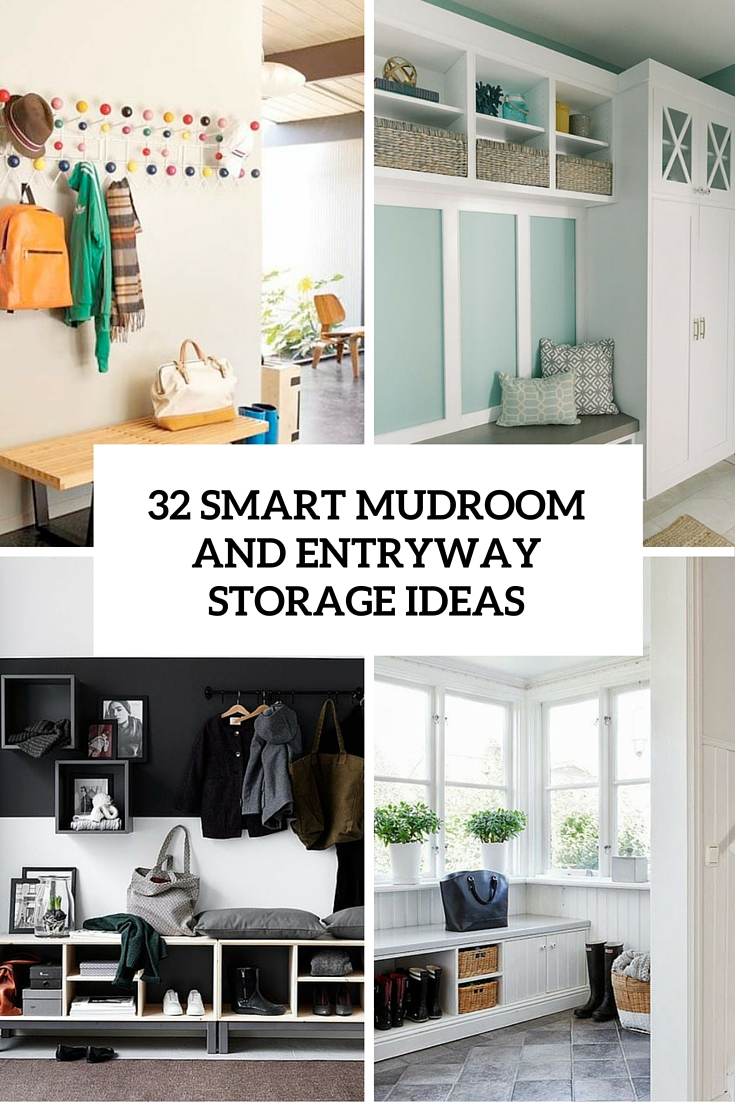 32 small mudroom and entryway storage ideas shelterness for Foyer decorating ideas small space