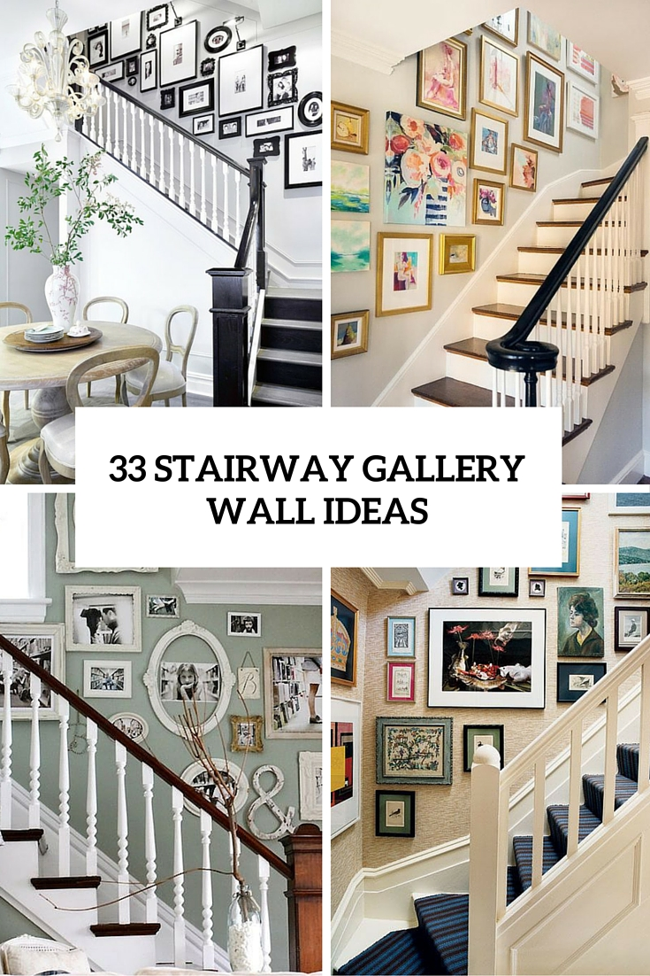 33 stairway gallery walls ideas cover