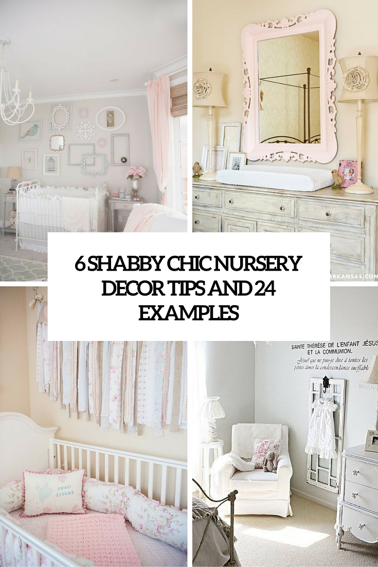 6 shabby chic decor tips and 24 examples cover