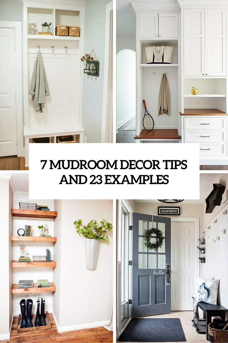 7 small mudroom dcor tips and 23 ideas to implement them shelterness - Mudroom Design Ideas