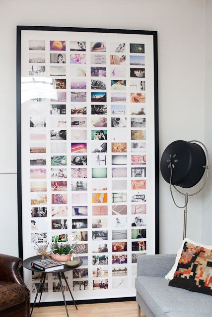 Instagram gallery wall in one frame