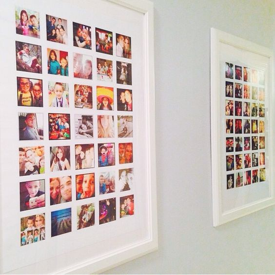 Instagram posters in frames