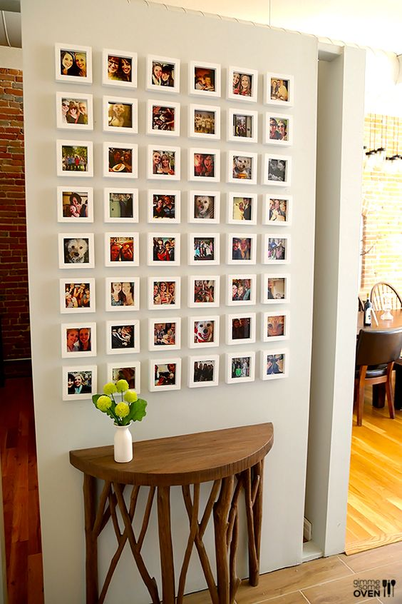 Instagram prints in white frames