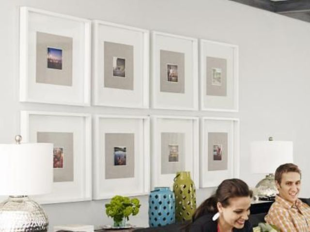 Instagram wall in white frames