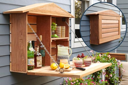 DIY fold down Murphy bar (via thisoldhouse)