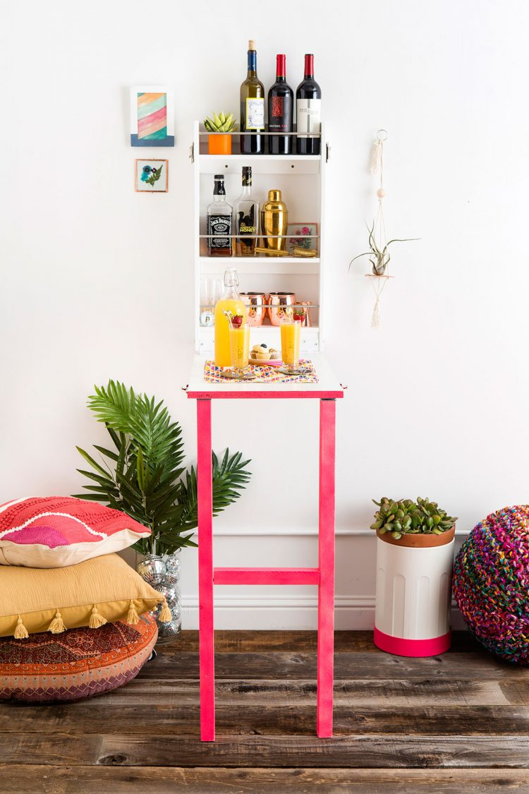 DIY colorful Murphy bar (via brit)