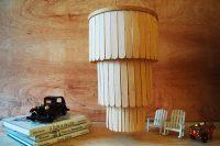 DIY popsicle stick chandelier