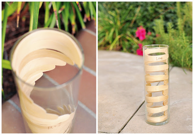 DIY popsicle stick vase